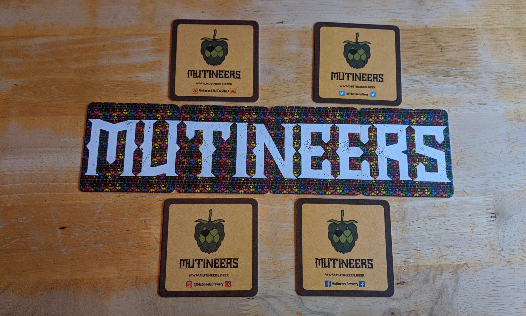 Mutineers Beer Mats